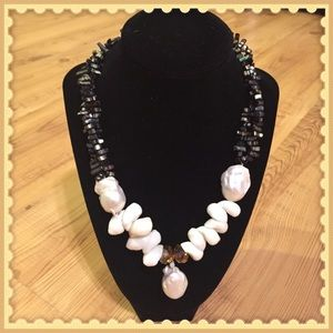 Handmade real baroque pearls. $150. Only one.